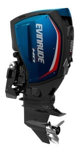 250 H.O. Evinrude E-TEC G2 - Blue Panels with Red Accents